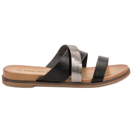 Vinceza Classic Slippers black