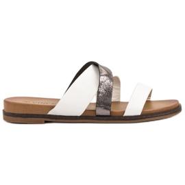 Vinceza Classic Slippers white
