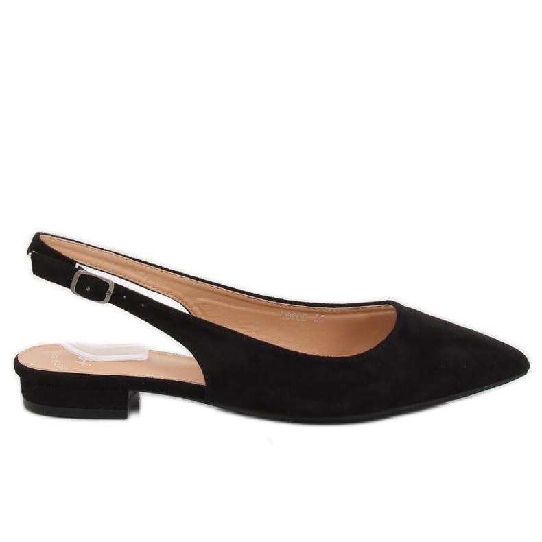 Black high heel ballerinas H9022 Negro