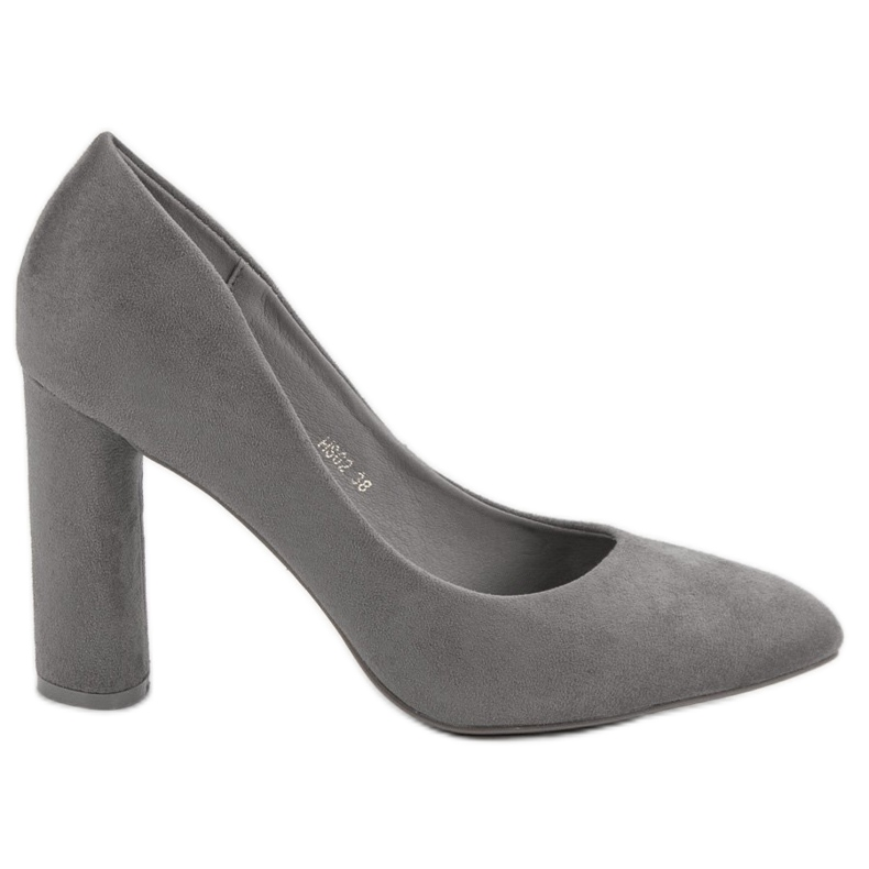 Small Swan Suede Pumps On A Bar grey