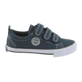 Velcro sneakers American Club navy blue