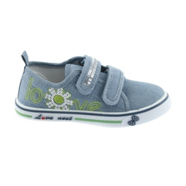 Sneakers blue jeans love Atletico leather insole