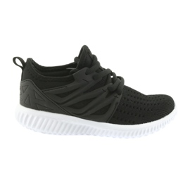 Bartek leather insert 58114 Black sport shoes