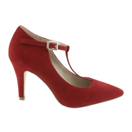 Women's shoes red Caprice 24400