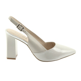 Grey Women's sandals on the post Caprice 29604 gray