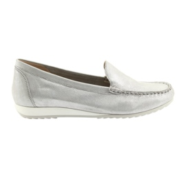 Grey Silver Caprice 24211 moccasins