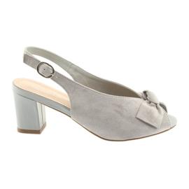Grey Suede leather sandals Sergio Leone 801