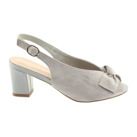Suede leather sandals Sergio Leone 801 grey