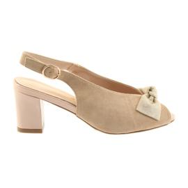 Brown Suede leather sandals Sergio Leone 801