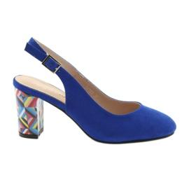 Blue Sandals on the post Sergio Leone 788 indigo mic