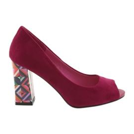 Pink Suede pumps Sergio Leone 133 fuchsia