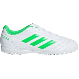 Football boots adidas Copa 19.4 Tf M D98072 white multicolored