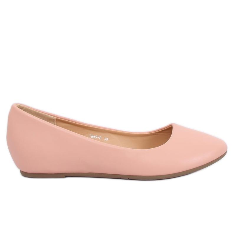 Wedge ballerinas pink 7849-P Pink