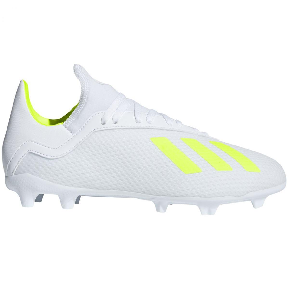 Football shoes adidas X 18.3 Fg Jr BB9372 white multicolored