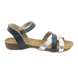 Sandals sport navy / silver Filippo 245
