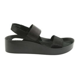 Filippo 767 profiled black sandals