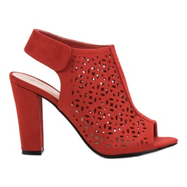 Queen Vivi Openwork Sandals With A Upper red