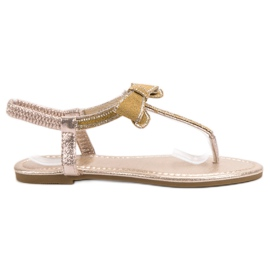 Comer yellow Sandals With Bow