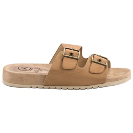 Kylie Classic Brown Slippers