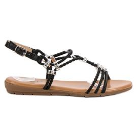 Cm Paris black Flat sandals