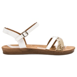 Seastar Fashionable Flat Sandals white