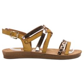 Seastar Fashionable Camel Sandals brown