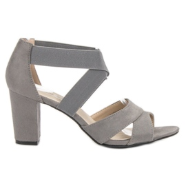 Filippo Gray Slip-on Sandals grey