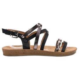 Seastar Fashionable Black Sandals