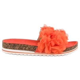 Seastar Fashionable Orange Slippers