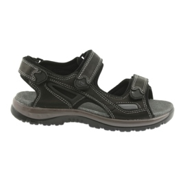 Velcro sandals light EVA DK black