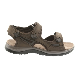 Velcro sandals light EVA DK brown bottom