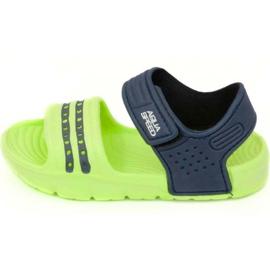 Sandals Aqua-speed Noli green navy blue col .84