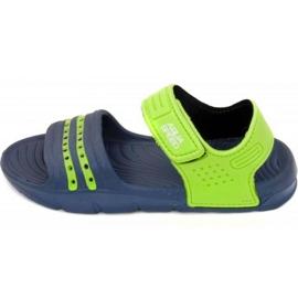 Sandals Aqua-speed Noli navy green Kids col.48