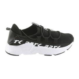 Bartek sports sneakers black 55109 leather insert