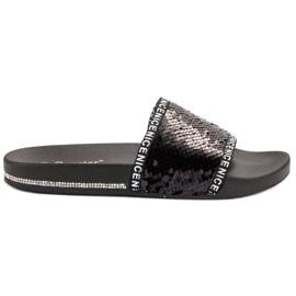 Seastar Sequins Flip Flops black