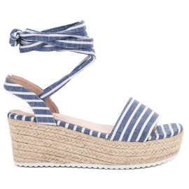 Seastar Sandals With Wedge Belts blue