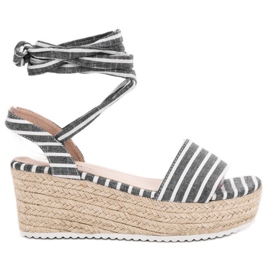 Seastar grey Sandals With Wedge Belts