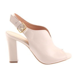 Sandals on the post Espinto 195 powder pink