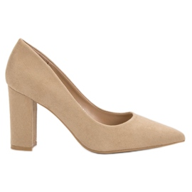 Anesia Paris brown Beige pumps