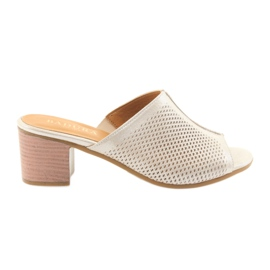Women's golden slippers Badura 5311