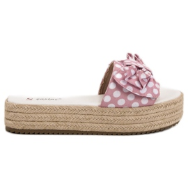 Seastar pink Slippers In Dots