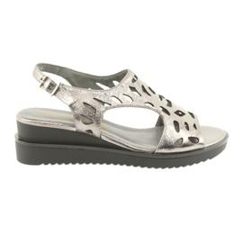 Sandals metallic gray metallic Daszyński 1838 grey