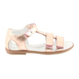 Girls' sandals, pink gold, Bartek 56016