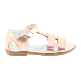 Girls' sandals, pink gold, Bartek 56016
