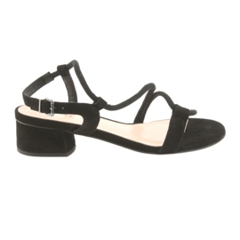 Black sandals high heels Edeo 3386