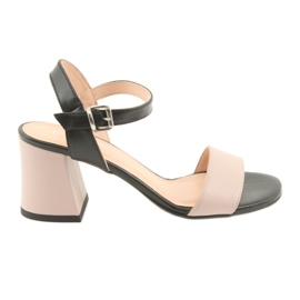 Women's sandals Edeo 3339 powder / black