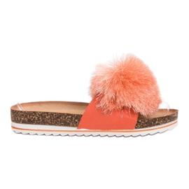 Seastar Slippers With Tassel orange