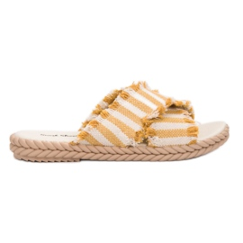 Seastar yellow Slippers With Belts