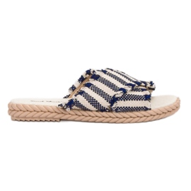 Seastar Slippers With Belts blue