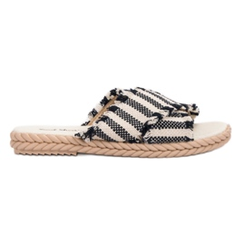 Seastar Slippers With Belts black